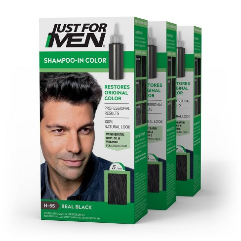 Just For Men Shampoo-In Color Gray Hair Coloring for Men - 3pk - image 1 of 4