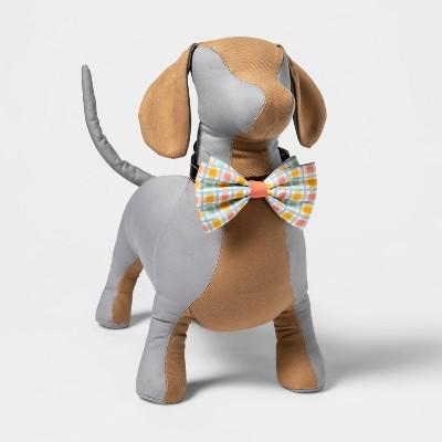 Plaid Collar Slide Dog Bowtie - Boots & Barkley™