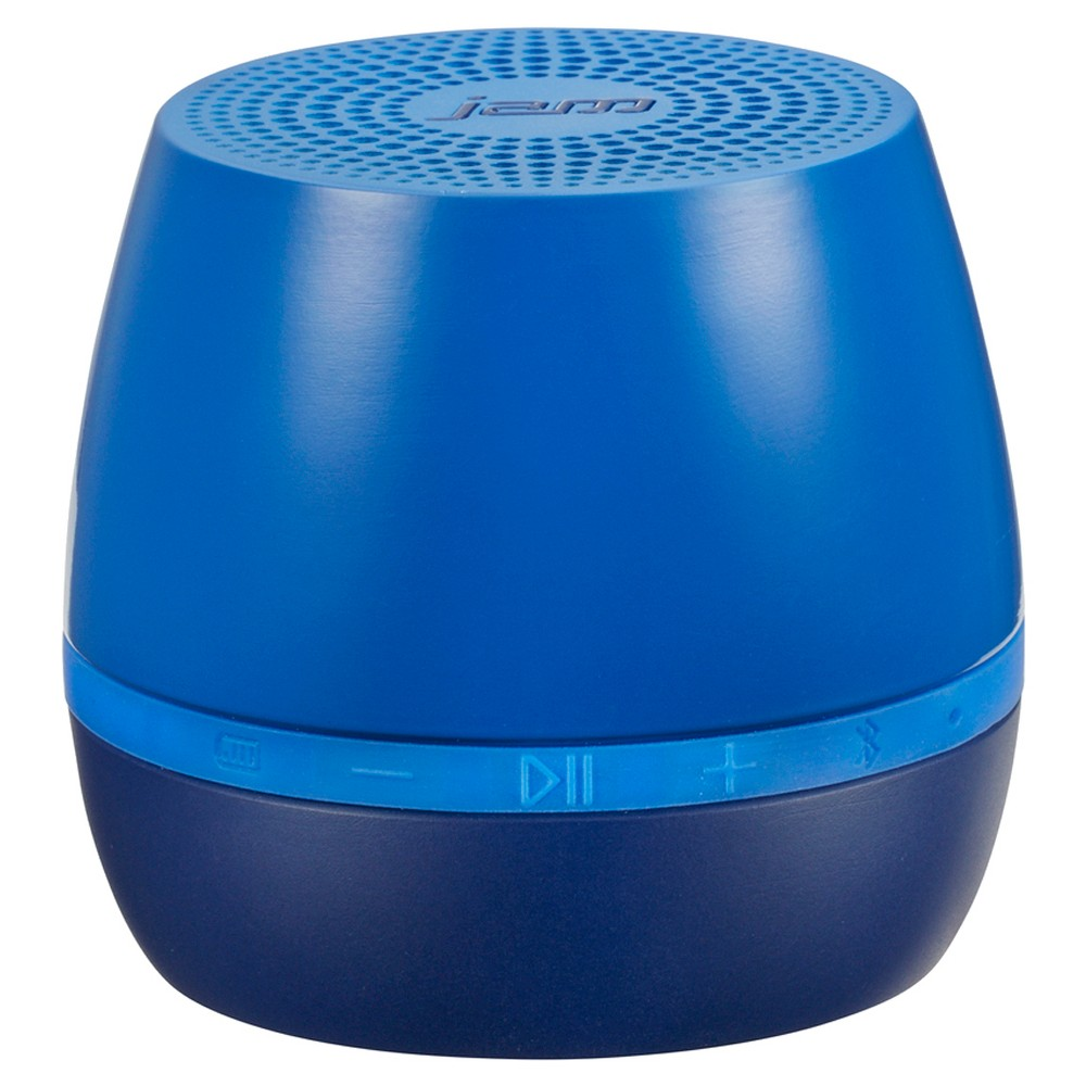 Jam Classic 2.0 Wireless Speaker - Blue Enjoy sweet sound in a sleek, portable design with this Jam Classic 2.0 rechargeable Bluetooth wireless speaker. Use the wireless speaker just about anywhere- from the kitchen or living room to a dorm room, office, back deck, or den. It can even be taken along to the beach when relaxing in the summer sunshine with friends. To pair the speaker to a handheld device, simply enable the device's Bluetooth functionality and enter the code provided. The speaker can connect wirelessly from up to 30 feet away, and it works with most Bluetooth-enabled Smartphones, tablets, notebooks, and desktops, including iPad, iPhone, and iPod. The Jam wireless speaker features a rechargeable lithium-ion battery that provides up to four hours of wireless play. The speaker also comes with line-in capability, which allows you to connect your non-Bluetooth enabled devices directly to the speaker. A Usb to micro-Usb cord (included) makes it easy to recharge the battery. Color: Blue. Age Group: Adult.