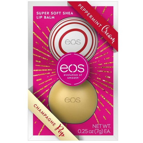 eos Lip Balm Sphere - Peppermint Cream & Champagne Pop - 2pk - image 1 of 4