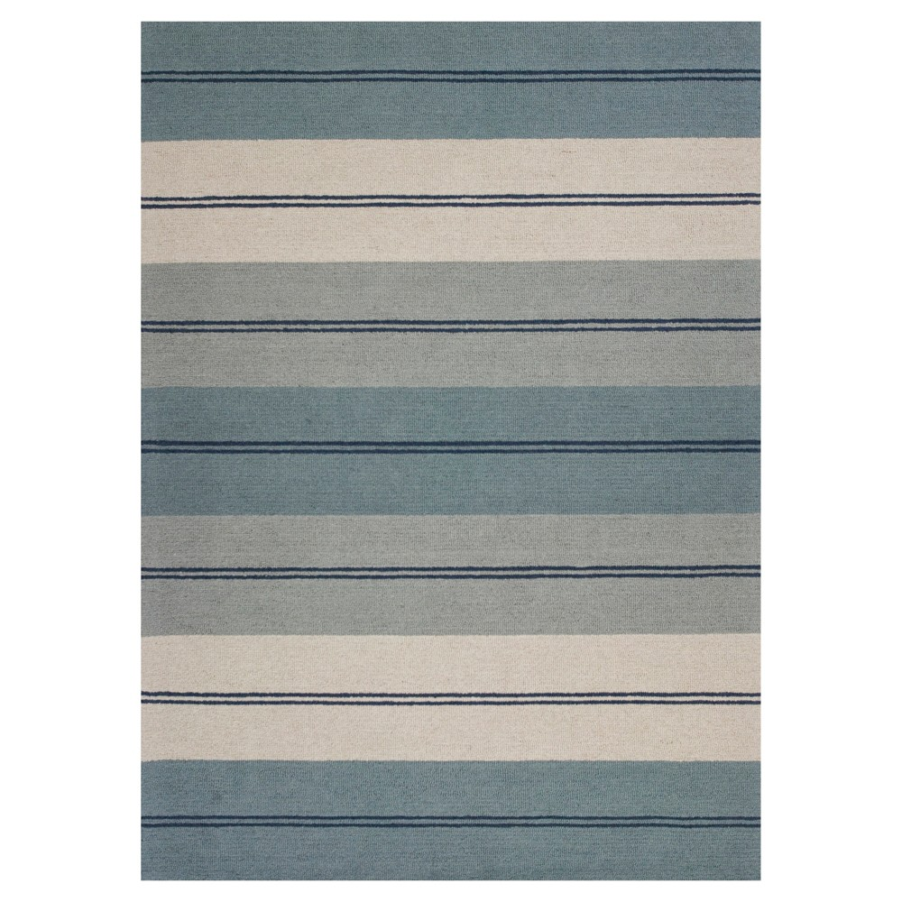 Ivory Stripe Tufted Area Rug - (8' X 10') - Kas Rugs, White