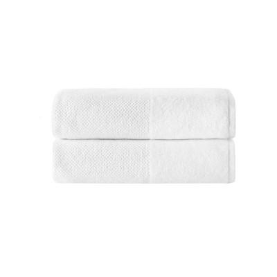 2pc Incanto Turkish Cotton Bath Sheet Set White - Enchante Home