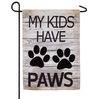 Cypress Home My Kids Have Paws Garden Burlap Flag