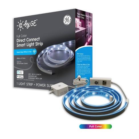 General Electric Full Color Smart Led Light Strip Target Le 12 volt led connectable led strip lights kit. general electric full color smart led light strip