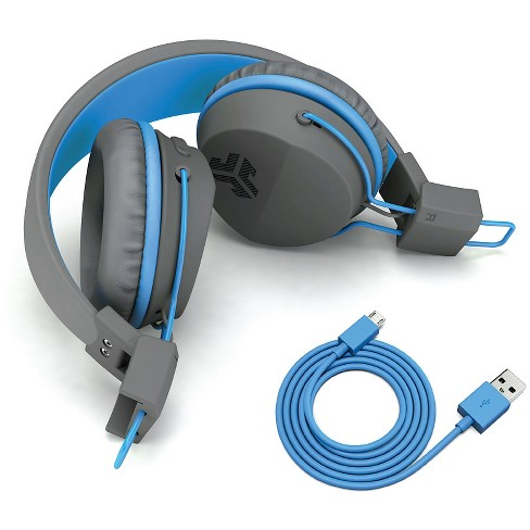 305262ea4f2 JLab JBuddies Wireless Bluetooth Headphones - Gray/Blue : Target