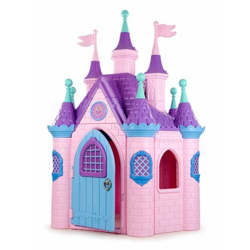 ECR4Kids Jumbo Princess Palace Playhouse Castle with Turrets and Flags, Indoor/Outdoor Play - image 1 of 4