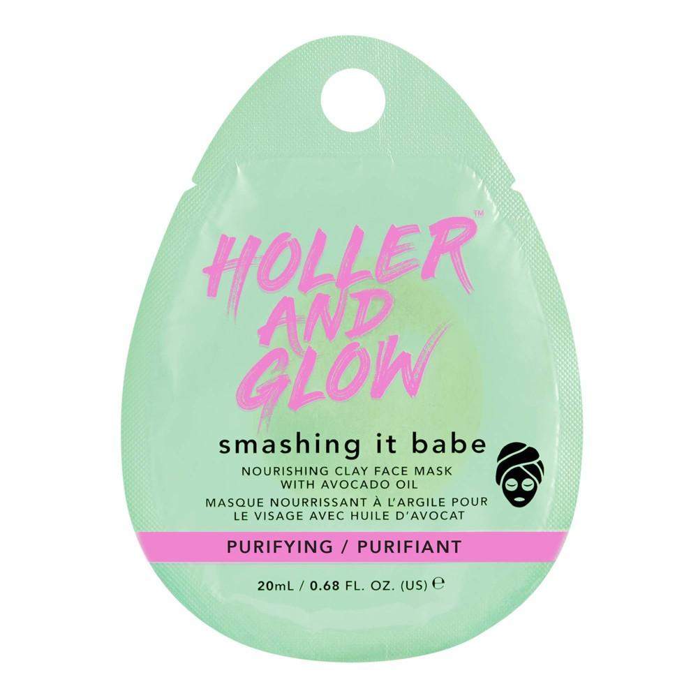 Holler And Glow Smashing It Babe Avocado Clay Face Mask 0 68oz