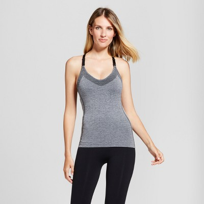 Women's Seamless Racerback Tank - Gilligan & O'Malley™ Heather Gray L