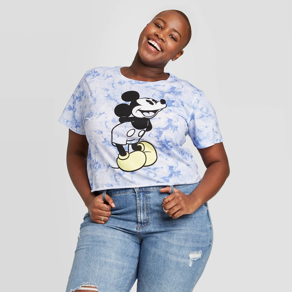 Women's Disney Mickey Plus Size Short Sleeve Graphic T-Shirt (Juniors') - Blue 2X was $14.99 now $10.49 (30.0% off)