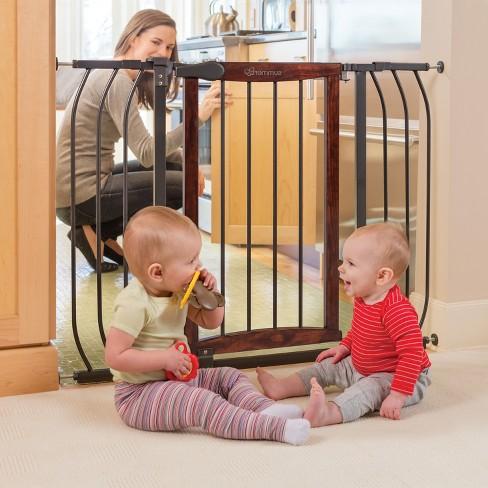 Summer Infant Walk Thru Anywhere Decorative Baby Gate Wood And