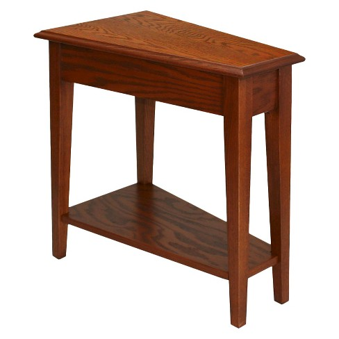 Favorite Finds Recliner Wedge Table Medium Oak Finish - Leick Furniture - image 1 of 7