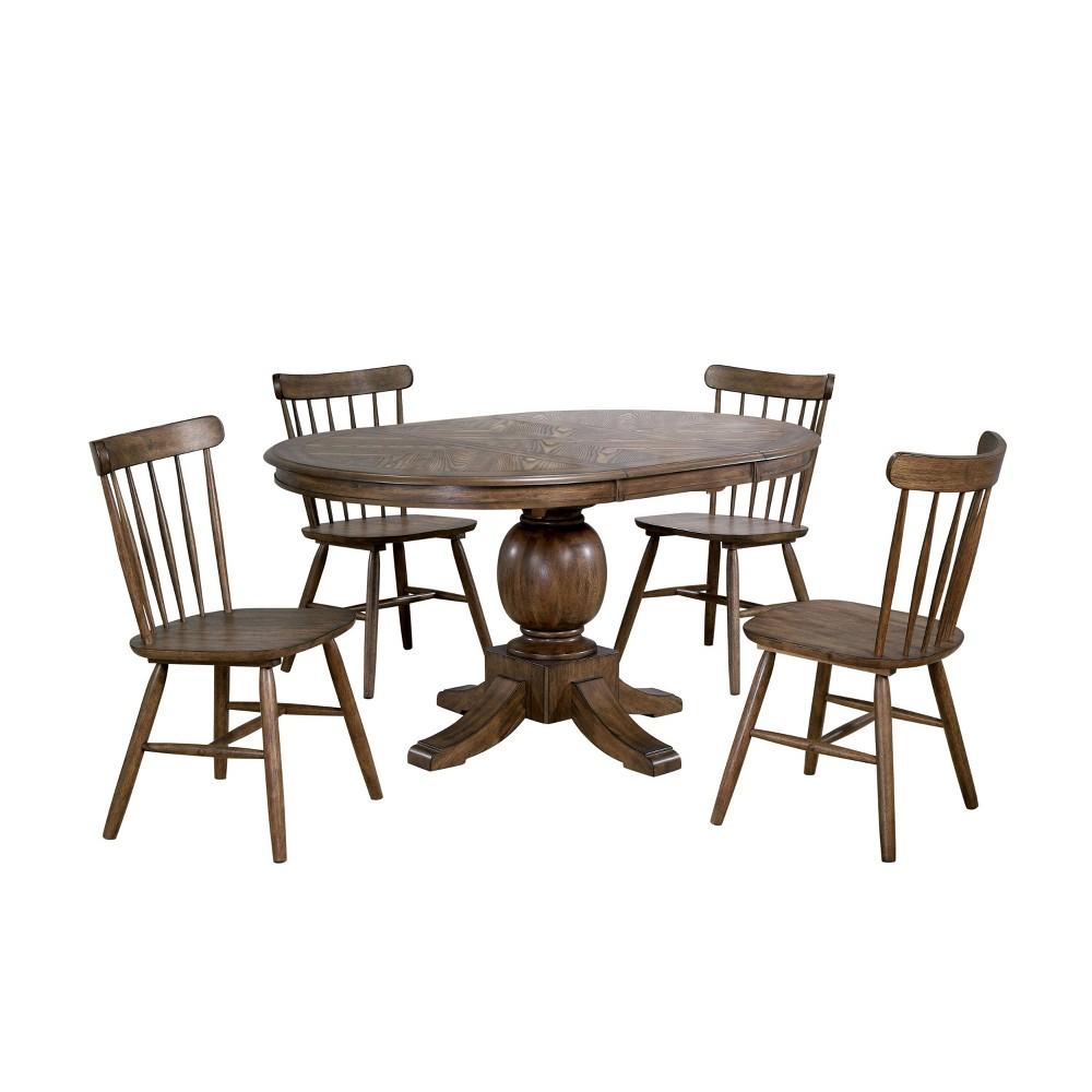 Best 5pc Ackley Dining Set Light Oak - HOMES: Inside + Out