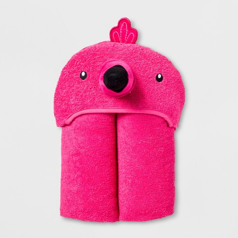 Flamingo Hooded Bath Towel Very Pink Pillowfort Target