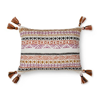 Geo Print Pillow with Tassels - Xhilaration™