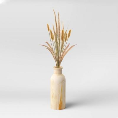 "27""x 10"" Artificial Foxtail Arrangement in Wood Vase - Threshold™"