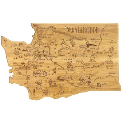 Totally Bamboo Destination Washington Serving and Cutting Board