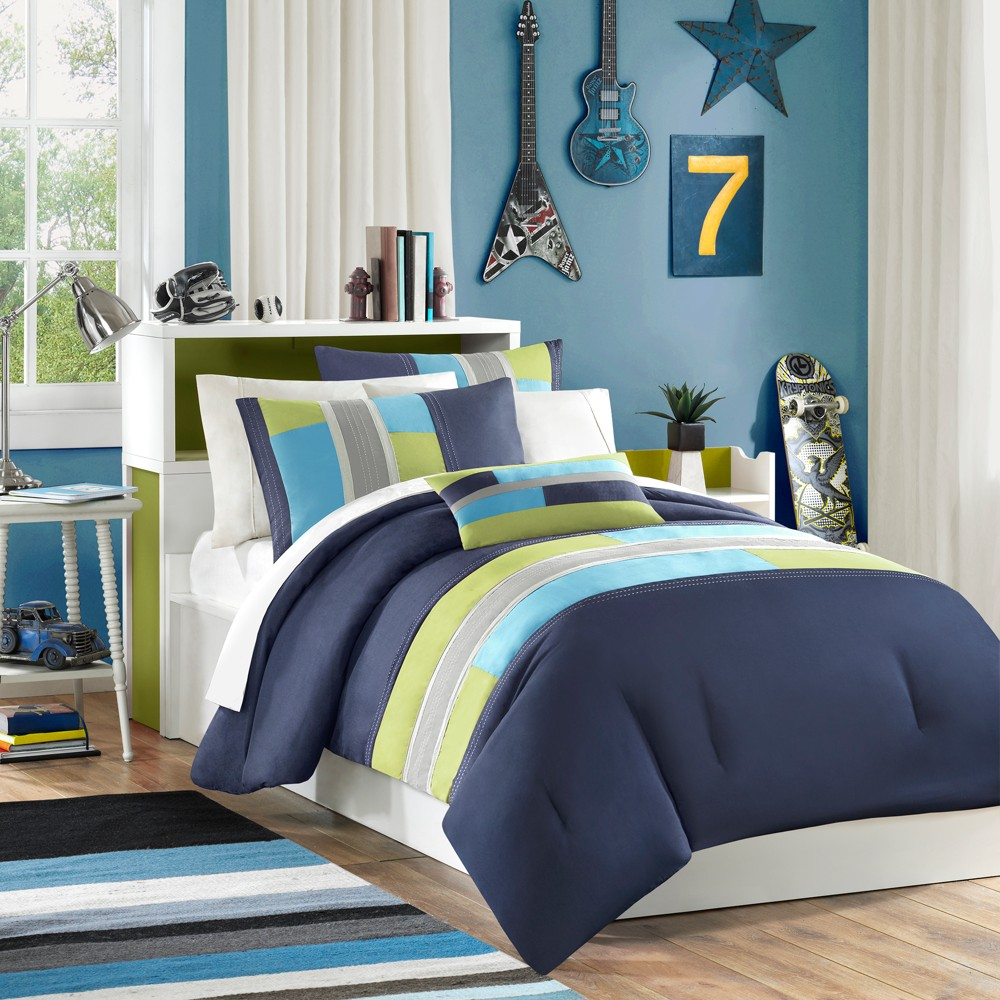 Navy (Blue) Maverick Comforter Set King/California King 4pc