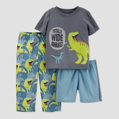 Baby Boys' 3pc Dino Pajama Set - Just One You® made by carter's Green 12M