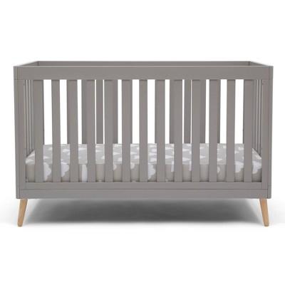 Delta Children Essex 4-in-1 Convertible Crib - Gray with Natural Legs