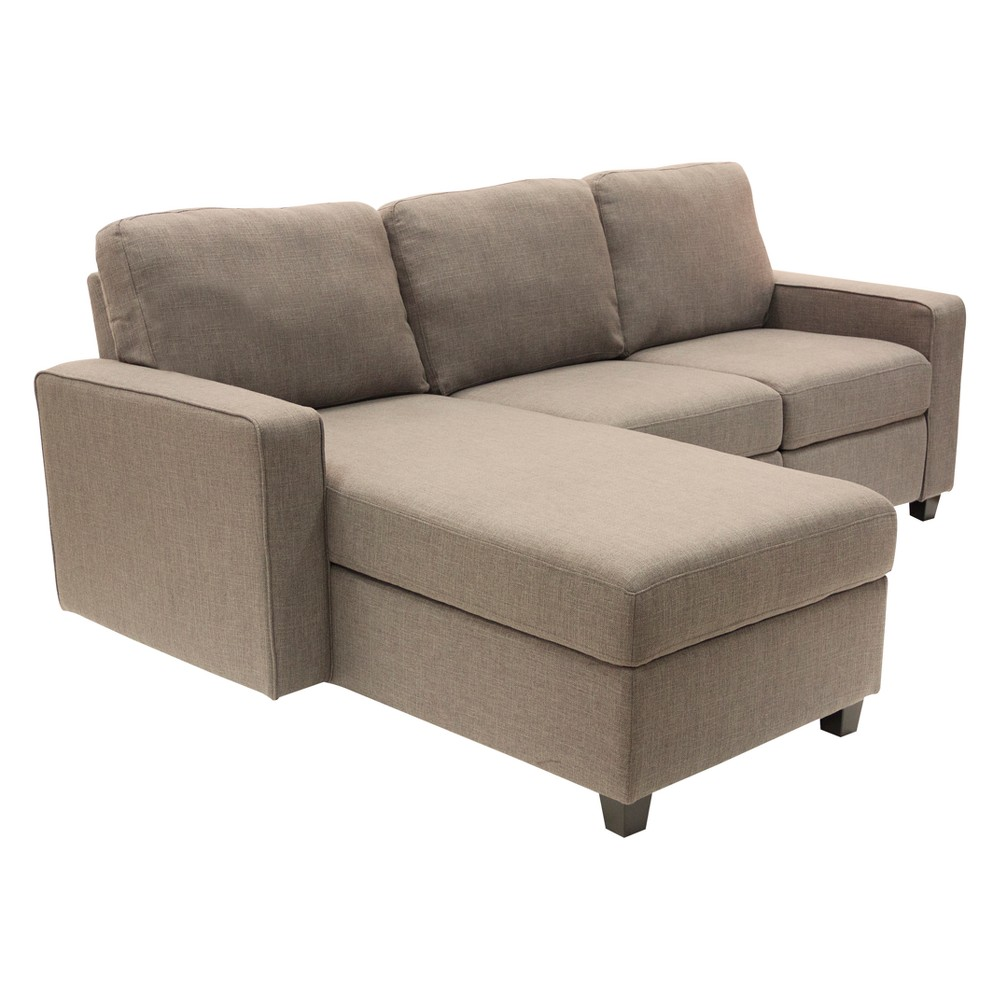 Palisades Reclining Sectional with Left Storage Chaise Oatmeal - Serta