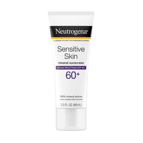 Neutrogena Sensitive Skin Sunscreen Broad Spectrum - SPF 60+ - 3 fl oz - image 1 of 4