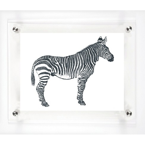"Mitchell Black Zebra Decorative Framed Wall Canvas (12""x15"") - image 1 of 1"