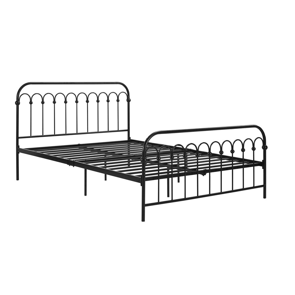 Image of Full Bright Pop Metal Bed Black - Novogratz