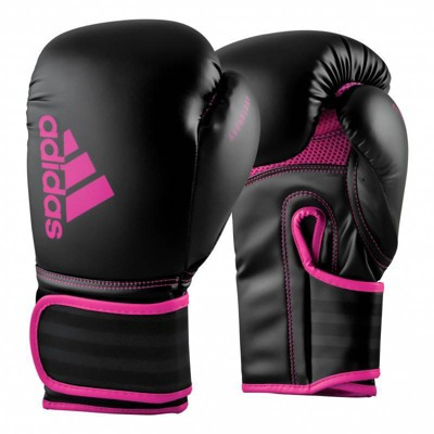 Adidas Hybrid 80 Training Gloves 6oz - Black/Pink
