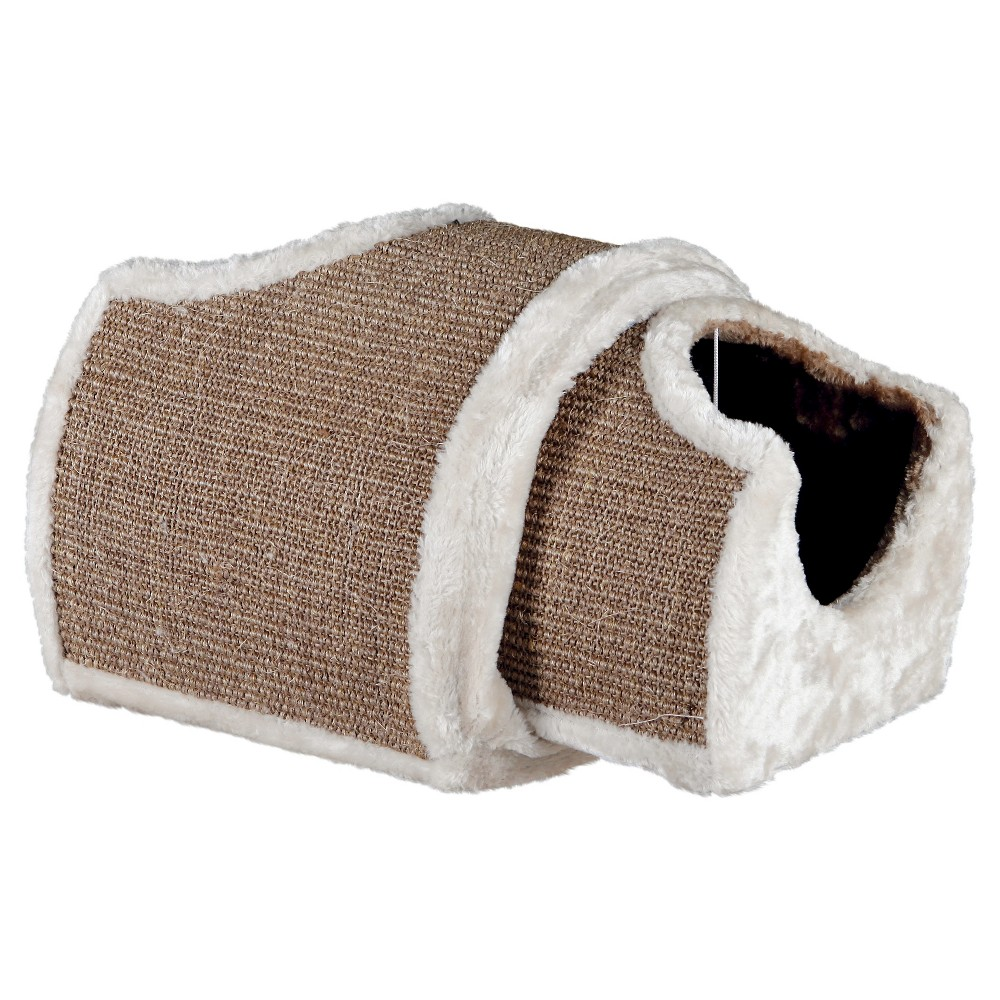 Trixie Pet Products Plush Nesting Tunnel for Cats, White