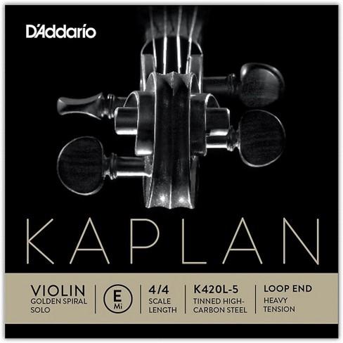 D'Addario Kaplan Golden Spiral Solo Series Violin E String - image 1 of 2