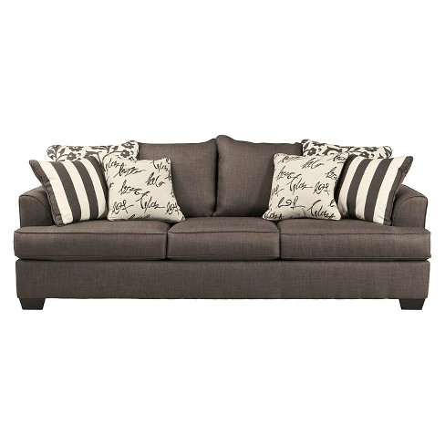 Levon Queen Sofa Sleeper Charcoal Signature Design By Ashley