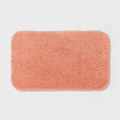 "20""x34"" Perfectly Soft Nylon Solid Bath Rug Coral - Opalhouse™"