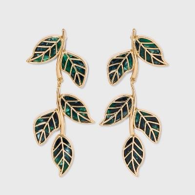 SUGARFIX by BaubleBar Crystal Vine Drop Earrings - Green