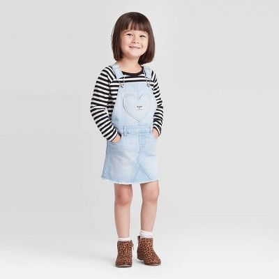 OshKosh B'gosh Toddler Girls' Heart Skirtall - Blue 12M