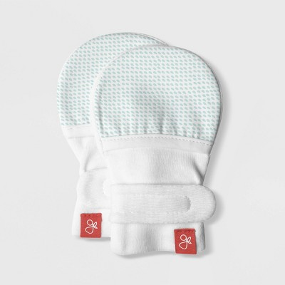 Goumi Baby Drops Mittens - Aqua 0-3M
