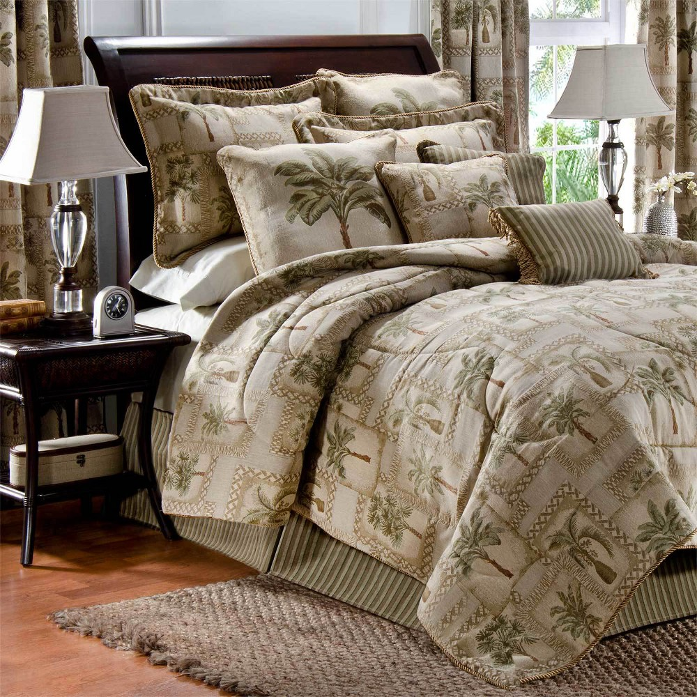 Image of 4pc California King Palm Grove Comforter Set -Karin Maki, Beige