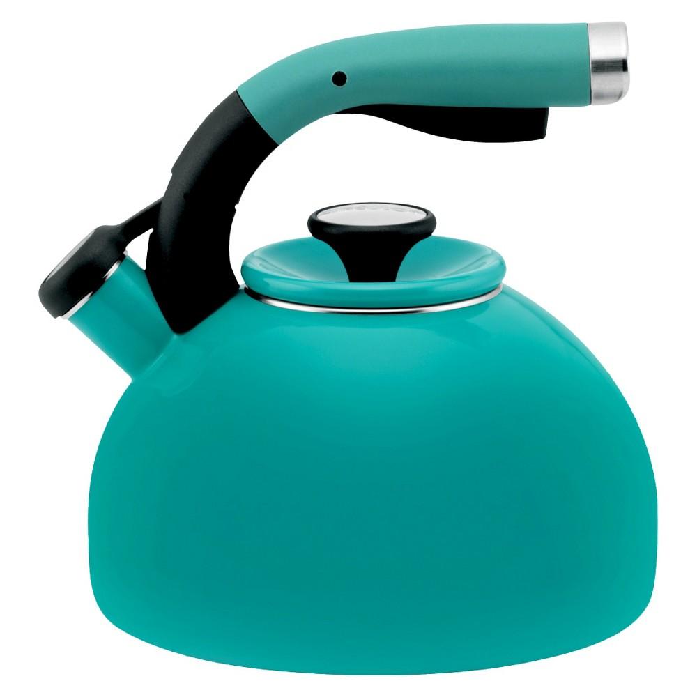Image of Circulon 2 Qt. Morning Bird Teakettle - Capri Turquoise