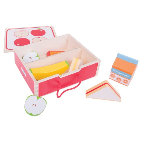 Bigjigs Toys Lunch Box Wooden Role Play Toy - image 1 of 1