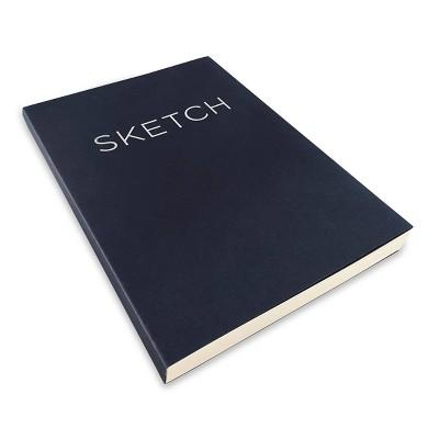 "Blank Sketchbook 8""x 11.41"" Black- Piccadilly"