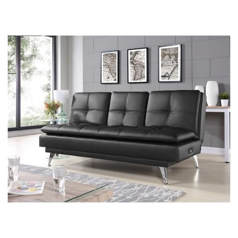 cef7a9053b2e47 Medina Convertible Sofa Black - Relax A Lounger   Target