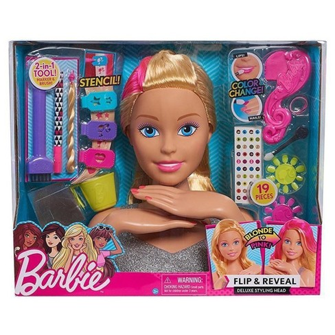 makeup and hair styling doll flip amp reveal deluxe styling target 6194