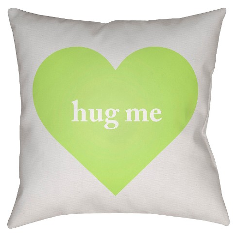 Candy Hearts Throw Pillow - Surya - image 1 of 2