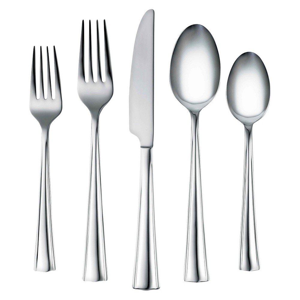 Image of Corelle Coordinates Ruth Mirror 20 Piece Silverware Set, Silver