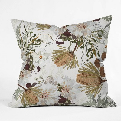 Iveta Abolina Juliette Charm Square Throw Pillow Brown - Deny Designs : Target