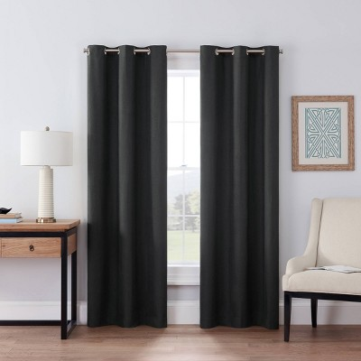 """42x63"""" Windsor Blackout Curtain Panel Charcoal - Eclipse"""
