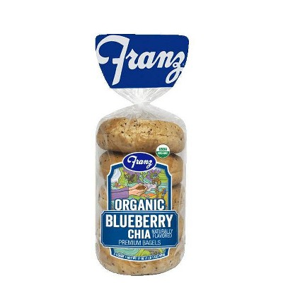 Franz Organic Blueberry Chia Bagels - 17oz/5ct