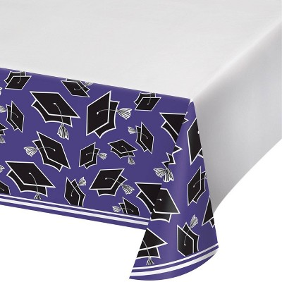 3ct Graduation School Spirit Tablecloth Purple