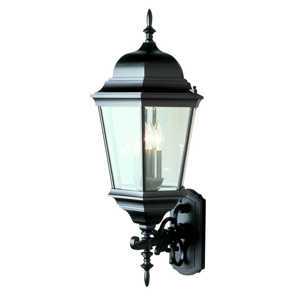 """Image of """"Colonial 29"""""""" Candled Outdoor Coach Black"""""""
