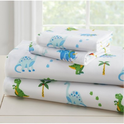 Toddler Dinosaur Land 100% Cotton Sheet Set - WildKin