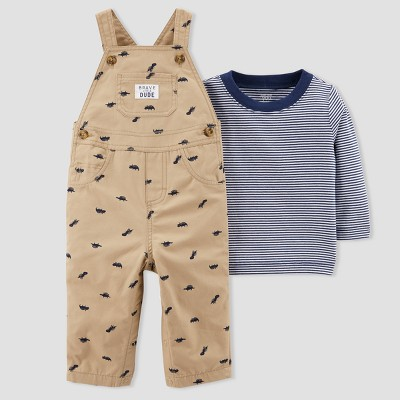 Baby Boys' 2pc Dinosaur Overall Set - Just One You® made by carter's Brown Newborn